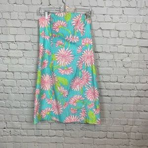 Lilly Pulitzer Strapless Tie Back Dress